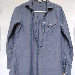 J.Crew Women's XXS Half Button Down Dress Shirt
